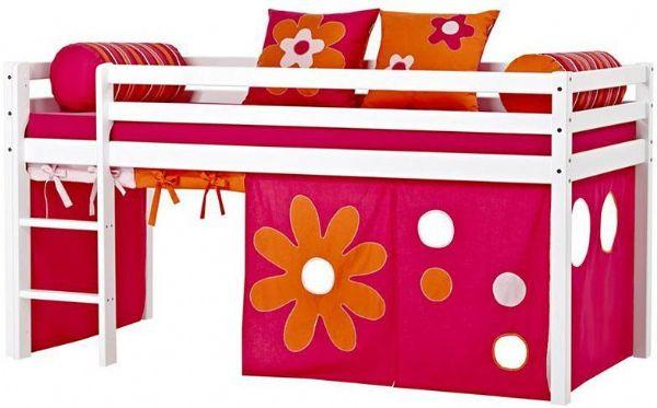 Halvhøj seng 90x200 cm - Hoppekids Flower Power Seng 102409 - Børneseng - Hoppekids