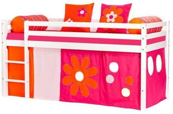 Halvhøj seng 90x200 cm - Hoppekids Flower Power Seng 102427 - Børneseng - Hoppekids