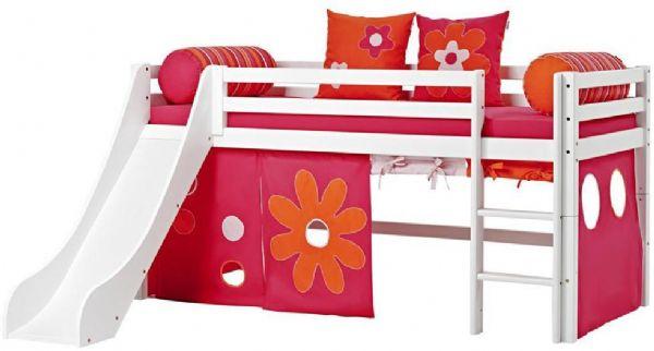 Halvhøj seng 90x200 cm - Hoppekids Flower Power Seng 102430 - Børneseng - Hoppekids