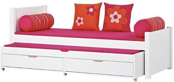 Image of   Deluxe seng m/udtræksseng 90x200 cm - Hoppekids Flower Power Seng 102435