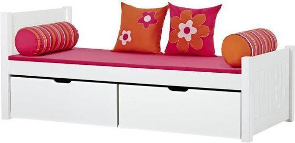 Image of   Deluxe seng m/skuffer 90x200 cm - Hoppekids Flower Power Seng 102436