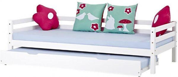 hoppekids Deluxe seng m/skuffer 90x200 cm - hoppekids flower power seng 102436 på eurotoys