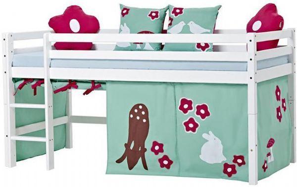 Halvhøj seng 90x200 cm - Hoppekids Forest Seng 102521 - Børneseng - Hoppekids