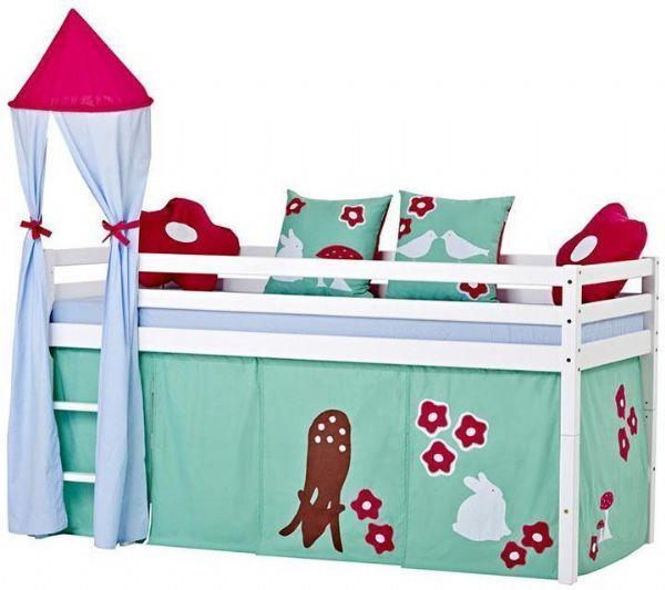 Halvhøj seng 90x200 cm - Hoppekids Forest Seng 102522 - Børneseng - Hoppekids