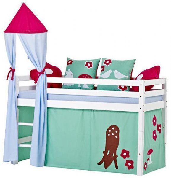 Halvhøj seng 70x160 cm - Hoppekids Forest Seng 102523 - Børneseng - Hoppekids