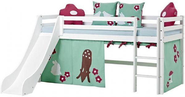 Halvhøj seng 90x200 cm - Hoppekids Forest Seng 102524 - Børneseng - Hoppekids