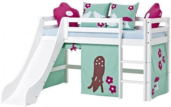 Halvhøj seng 70x160 cm - Hoppekids Forest Seng 102525 - Børneseng - Hoppekids