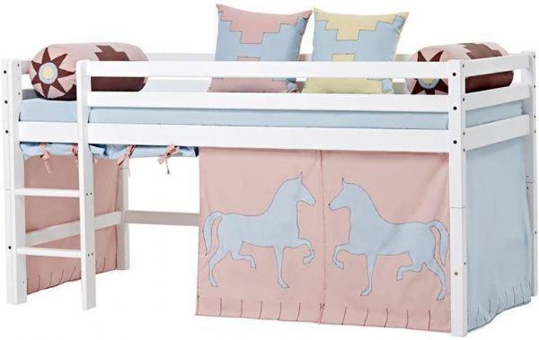 Halvhøj seng 90x200 cm - Hoppekids Indian Girl Seng 102617 - Børneseng - Hoppekids
