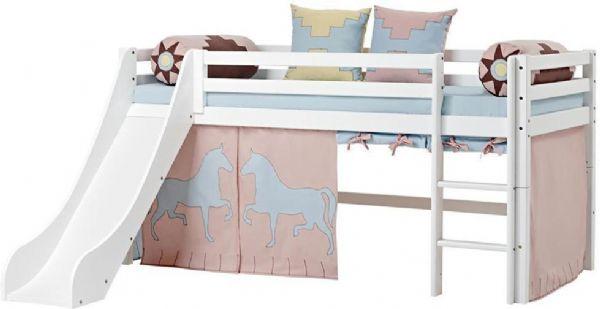 Halvhøj seng 90x200 cm - Hoppekids Indian Girl Seng 102619 - Børneseng - Hoppekids