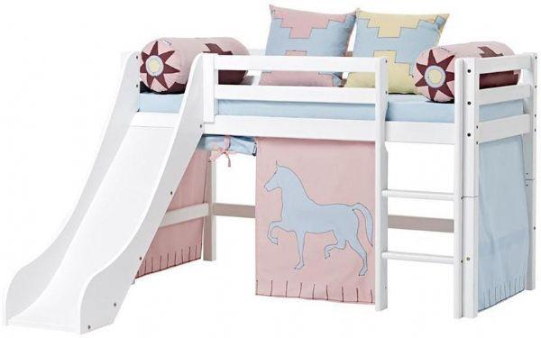 Halvhøj seng 70x160 cm - Hoppekids Indian Girl Seng 102620 - Børneseng - Hoppekids