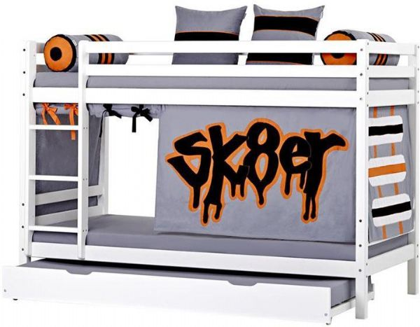 Image of   Etageseng m/udtræksseng 90x200 cm - Hoppekids Skater Seng 102701
