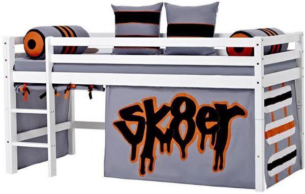 Halvhøj seng 90x200 cm - Hoppekids Skater Seng 102722 - Børneseng - Hoppekids