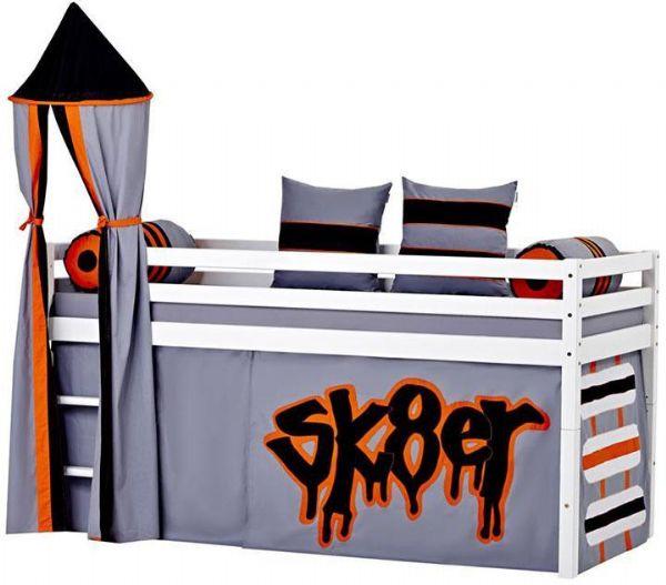 Halvhøj seng 90x200 cm - Hoppekids Skater Seng 102723 - Børneseng - Hoppekids