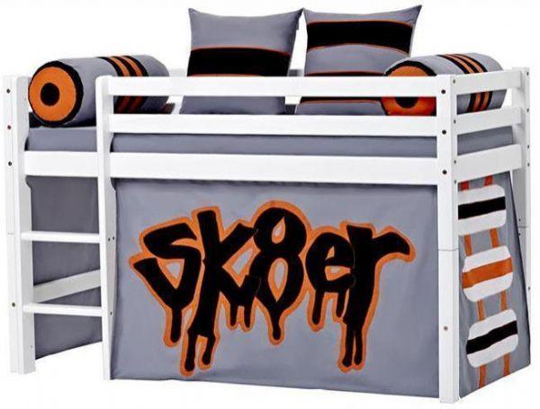 Halvhøj seng 70x160 cm - Hoppekids Skater Seng 102724 - Børneseng - Hoppekids