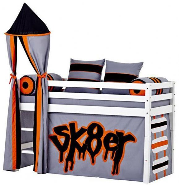 Halvhøj seng 70x160 cm - Hoppekids Skater Seng 102725 - Børneseng - Hoppekids