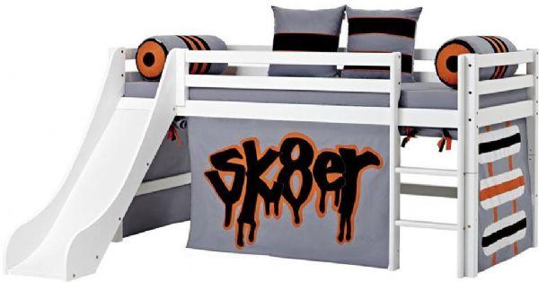 Halvhøj seng 90x200 cm - Hoppekids Skater Seng 102726 - Børneseng - Hoppekids
