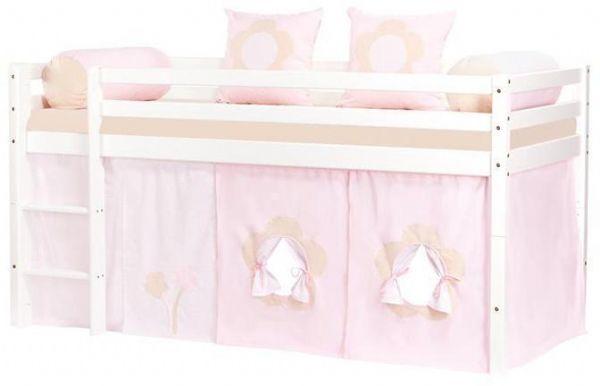 Halvhøj seng 90x200 cm - Hoppekids Fairytale Flower Seng 102819 - Børneseng - Hoppekids