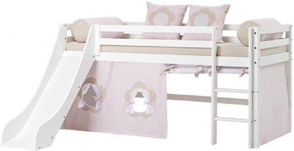Halvhøj seng 90x200 cm - Hoppekids Fairytale Flower Seng 102820 - Børneseng - Hoppekids