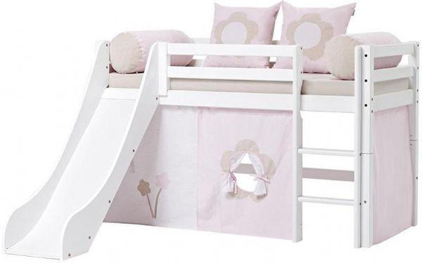 Halvhøj seng 70x160 cm - Hoppekids Fairytale Flower Seng 102821 - Børneseng - Hoppekids