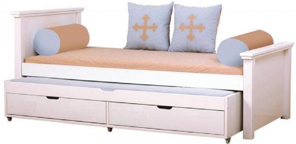 Image of   Deluxe seng m/udtræksseng 90x200 cm - Hoppekids Fairytale Knight Seng 102905