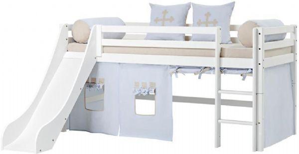 Halvhøj seng 90x200 cm - Hoppekids Fairytale Knight Seng 102915 - Børneseng - Hoppekids