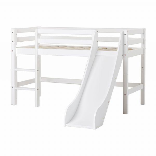 Halvhøj seng m/rutsjebane 70x160 cm - Hoppekids sengeramme 109915 - Børneseng - Hoppekids