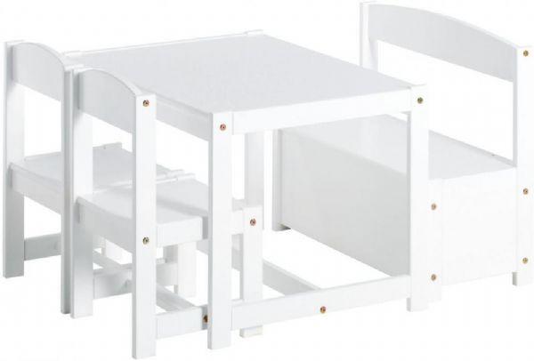 Image of   Møbler 1 bord, 2 stk børnestol & 1 bænk - Børnebord / Børnemøbler 101405
