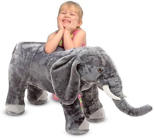 Image of   Plys elefant - Melissa & Doug legetøj 12185