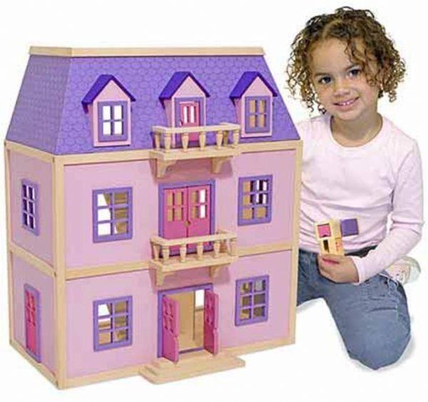 Image of   Dukkehus i træ - Melissa & Doug legetøj 14570