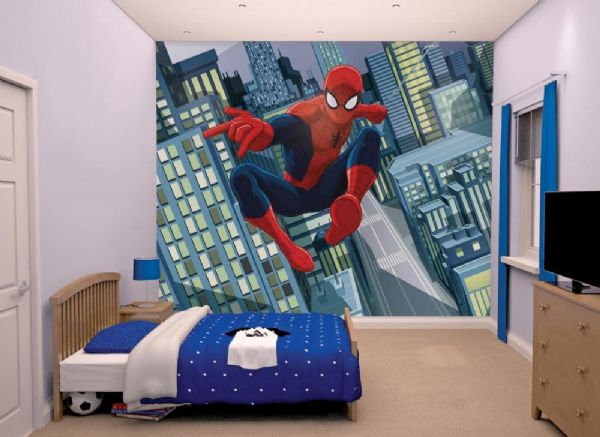 Image of Spider-Man tapet - Walltastic Spiderman 3D børnetapet 43824 (45-043824)