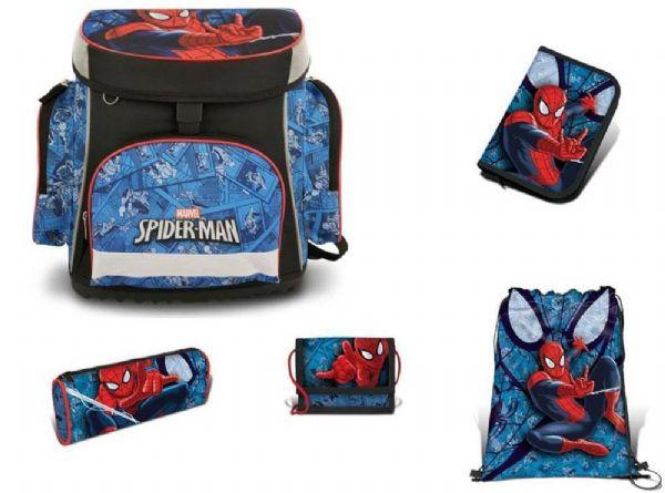Image of   Spiderman Skoletaske Sæt 5 dele - Spiderman Skoletaske 777425
