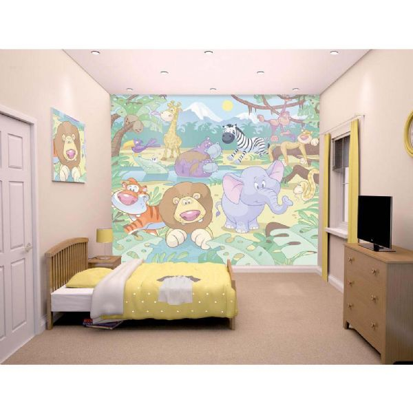 walltastic Jungle tapet - walltastic jungle 3d børnetapet 40595 fra eurotoys