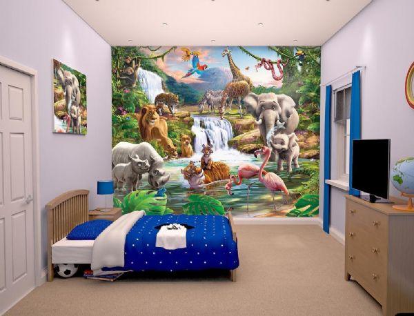 walltastic – Jungleeventyr tapet - walltastic jungle 3d børnetapet 41776 på eurotoys