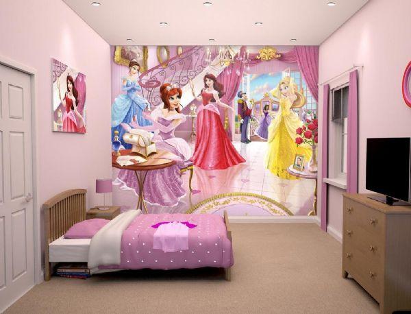 Image of Prinsesse tapet - Walltastic Feer 3D børnetapet 43183 (451-043183)