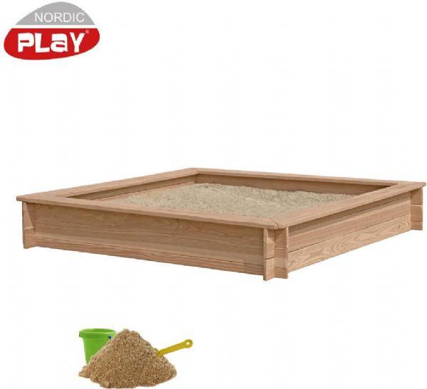Image of Sandkasse, lærk inkl. sand 240 kg. - Nordic Play sandkasser 805734 (460-805734)