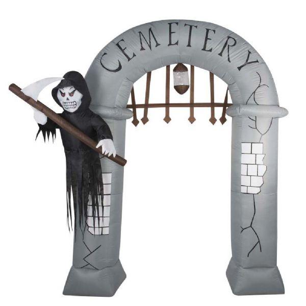 Image of   Oppustelig Kirkegård indgang 2x2,4m - Halloween store dekorationer 91507