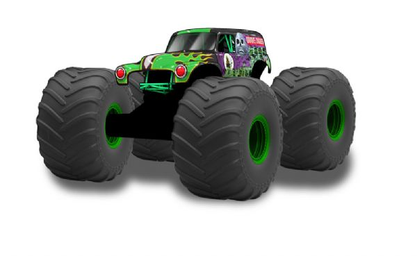 Image of Monster Jam RC Mega Grave Digger - Monster jam biler 46198 (473-046198)
