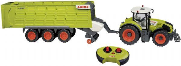 Image of Fjernstyret Claas traktor med trailer - Claas radiostyret traktor 344256 (479-344256)