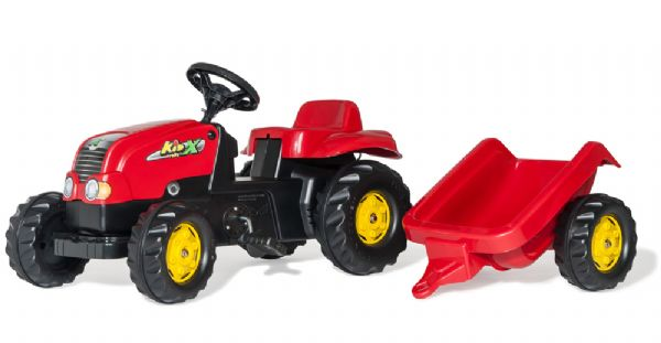 Image of   RollyKid-X Traktor m / anhænger - Rolly Toys 12121