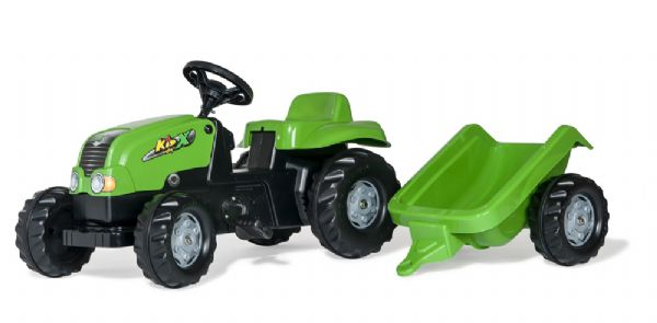 Image of   RollyKid-X Traktor m. anhænger - Rolly toys 12169