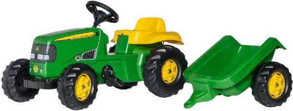 Image of   RollyKid John Deere med anhænger - Rolly Toys 12190
