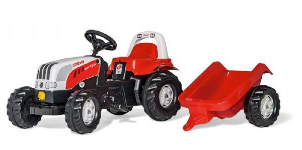 Image of   RollyKid Steyr Traktor med anhænger - Rolly Toys 12510