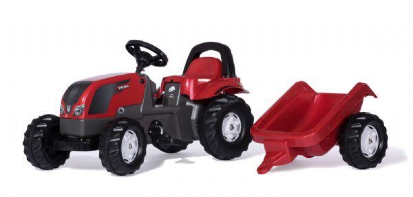 Image of   RollyKid Valtra Traktor med anhænger - Rolly Toys 12527