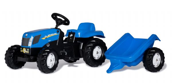 Image of   RollyKid Traktor NH T7040 med trailer - Rolly toys New Holland 13074