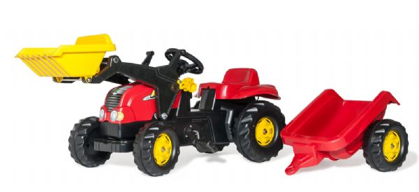Image of   RollyKid-X Traktor med frontskovl - Rolly Toys 23127