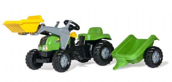 Image of   RollyKid-X Traktor med frontskovl - Rolly Toys 23134