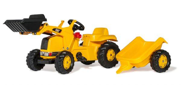 Image of   RollyKid CAT traktor med anhænger - Rolly Toys 23288