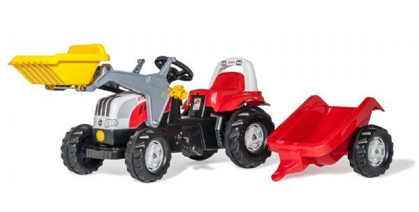 Image of   RollyKid Steyr traktor med frontskovl - Rolly Toys 23936