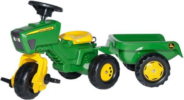 Image of   John Deere Pedal Traktor m/anhænger - Rolly Toys 52769