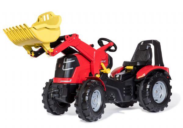 Image of   X-trac Premium Rød Traktor m. frontlæsse - Rolly Toys 651009